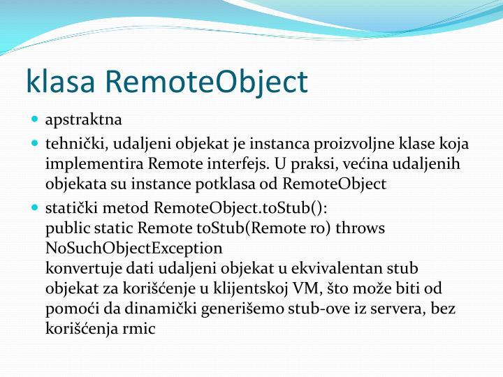 klasa RemoteObject