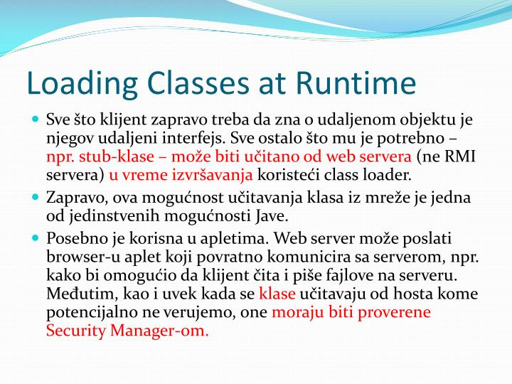 Loading Classes at Runtime