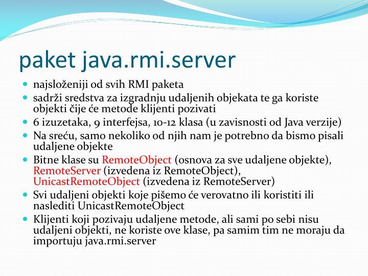 paket java.rmi.server