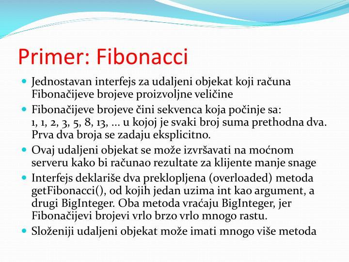 Primer: Fibonacci