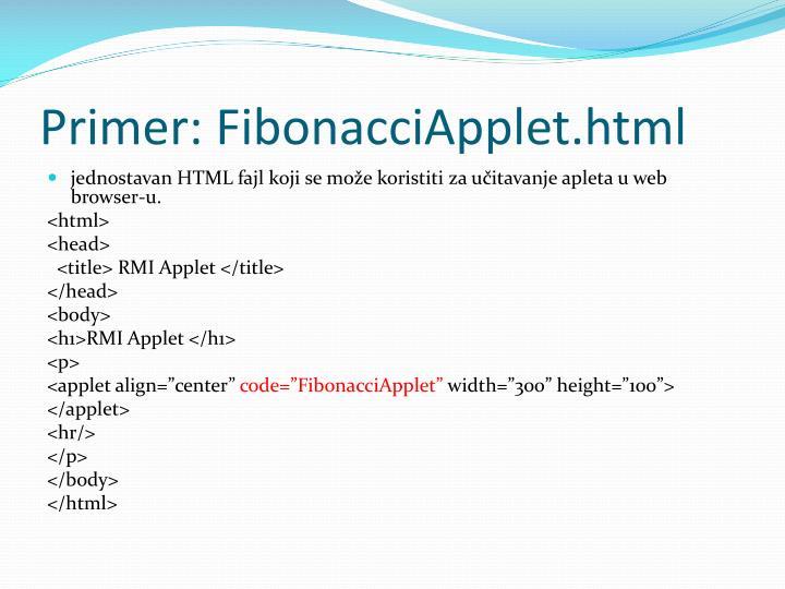Primer: FibonacciApplet.html
