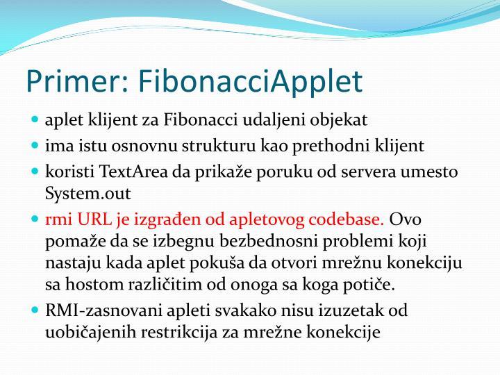 Primer: FibonacciApplet