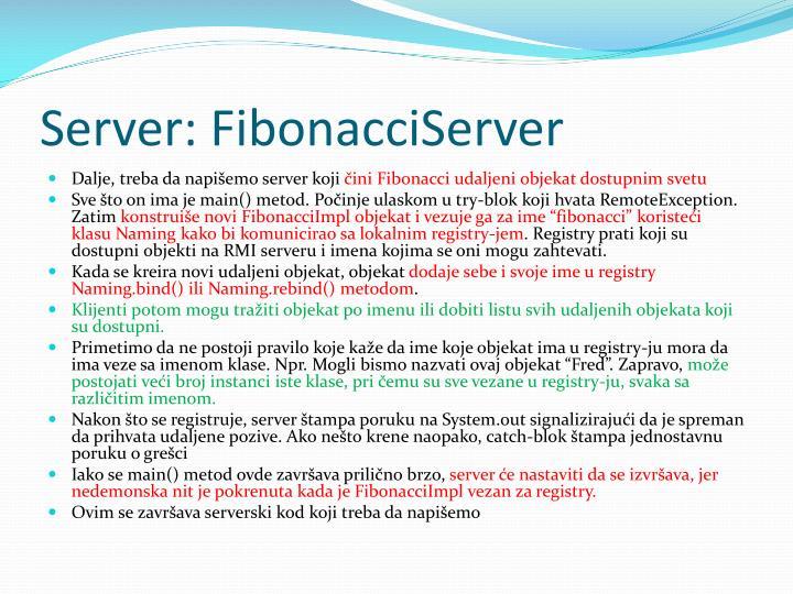 Server: FibonacciServer