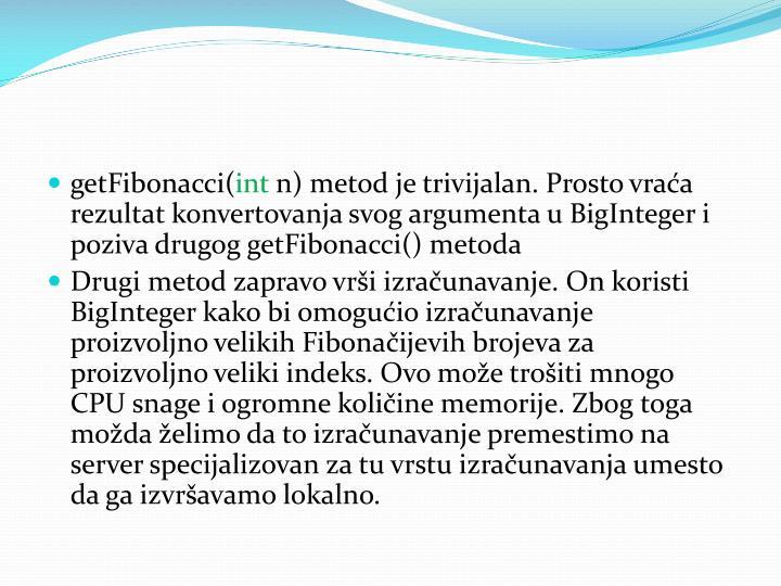 getFibonacci(