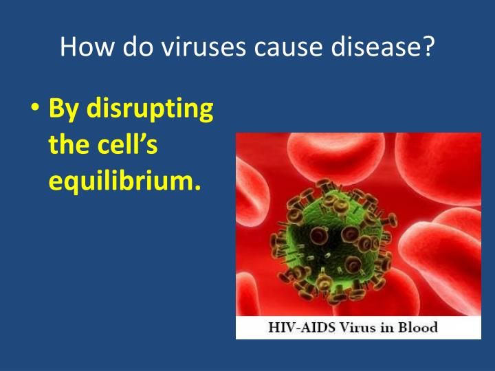 How do viruses cause disease?