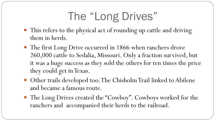 "The ""Long Drives"""