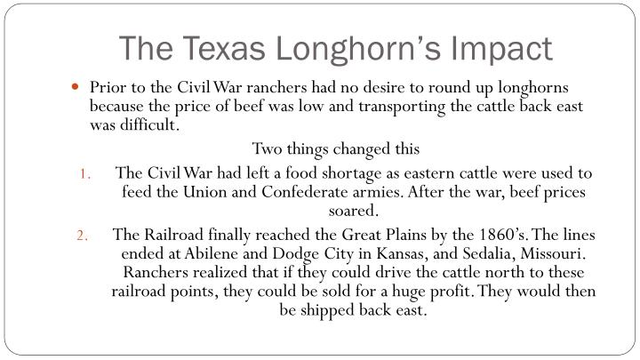 The Texas Longhorn's Impact