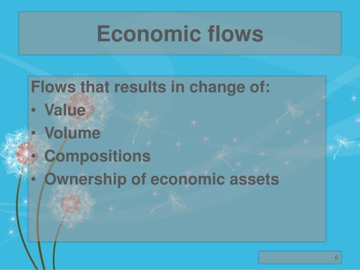 Economic flows