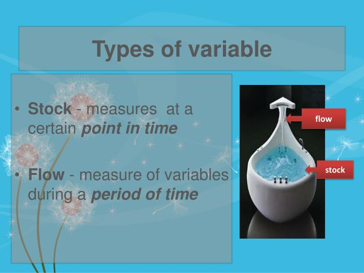 Types of variable