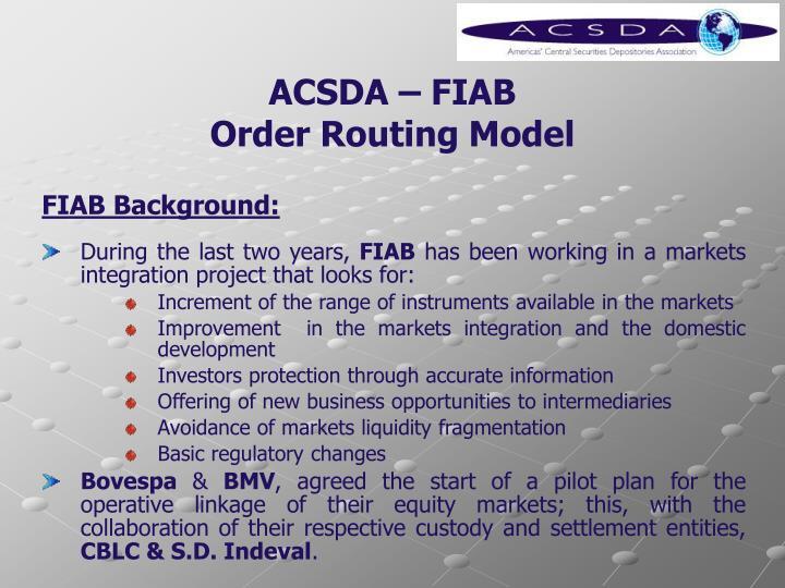 ACSDA – FIAB