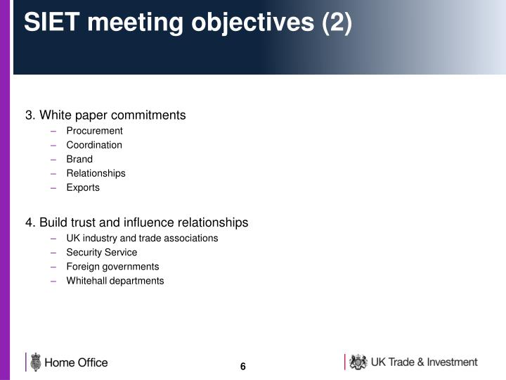 SIET meeting objectives (2)