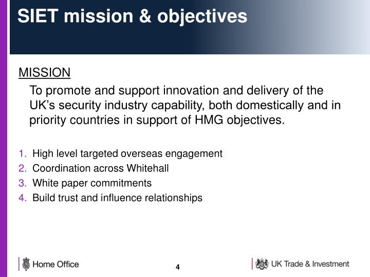 SIET mission & objectives