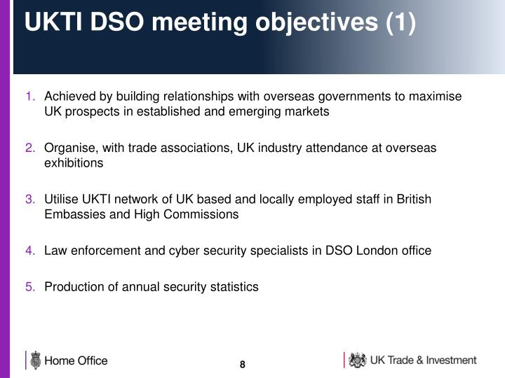 UKTI DSO meeting objectives (1)