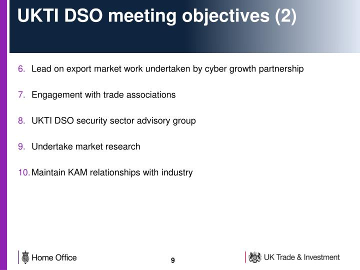 UKTI DSO meeting objectives (2)