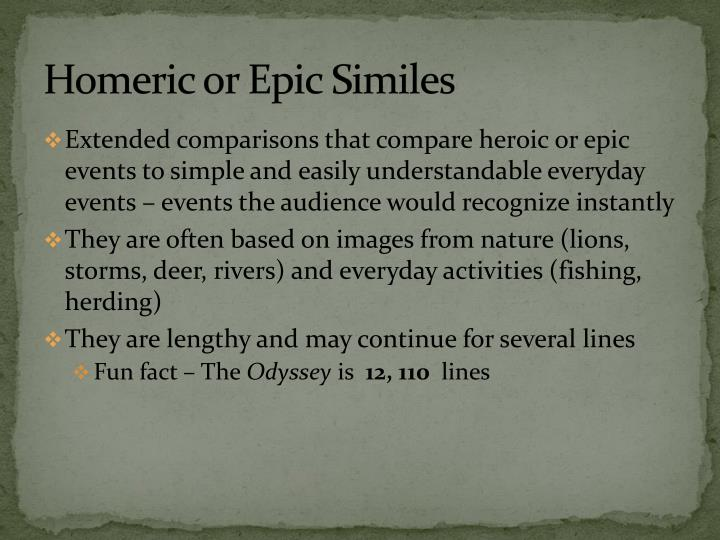 Homeric or Epic Similes