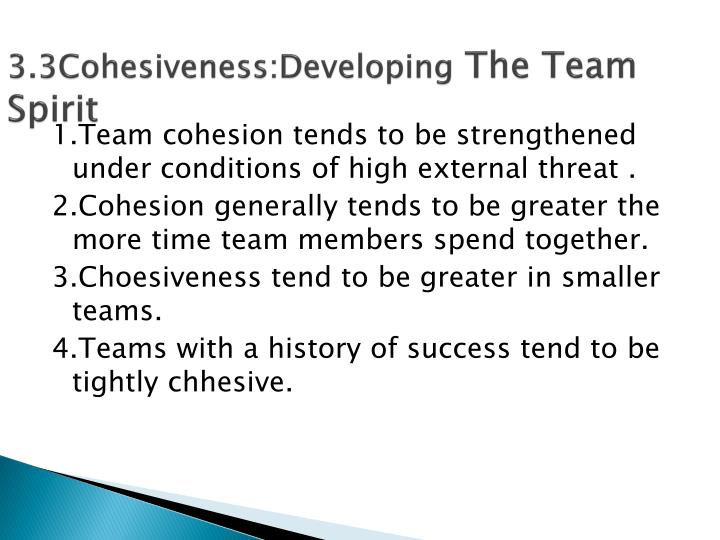 3.3Cohesiveness:Developing
