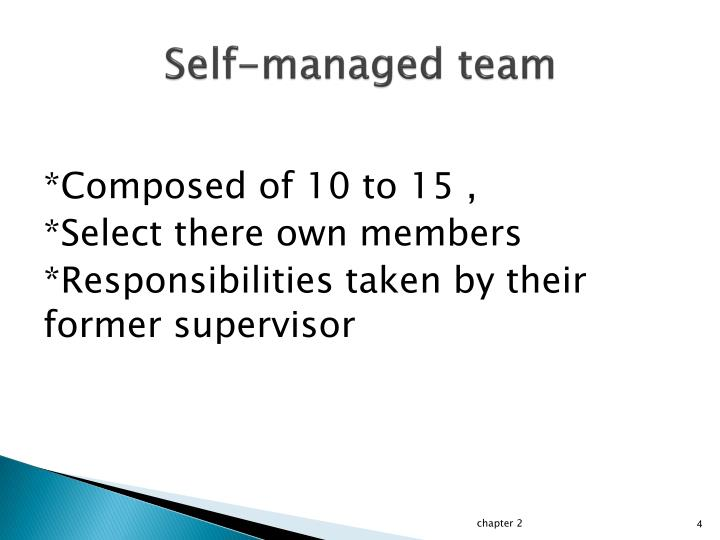 Self-managed team