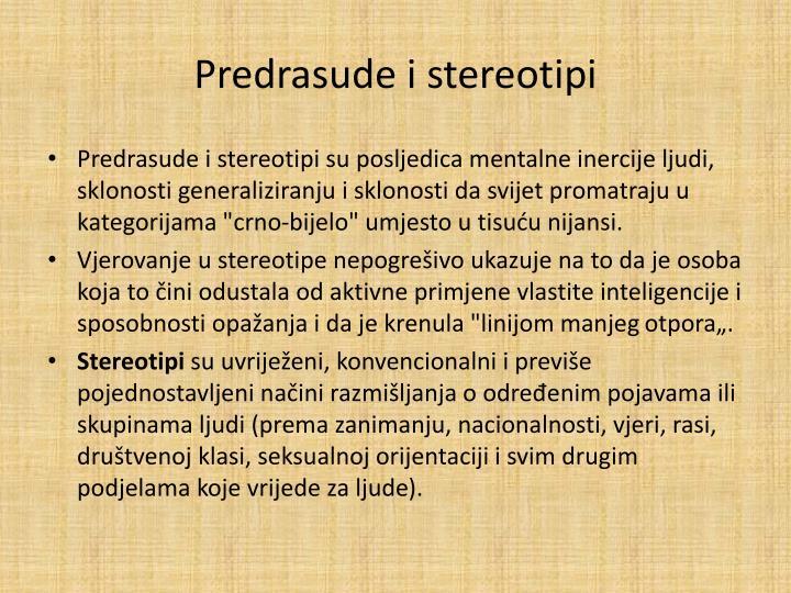 Predrasude i stereotipi