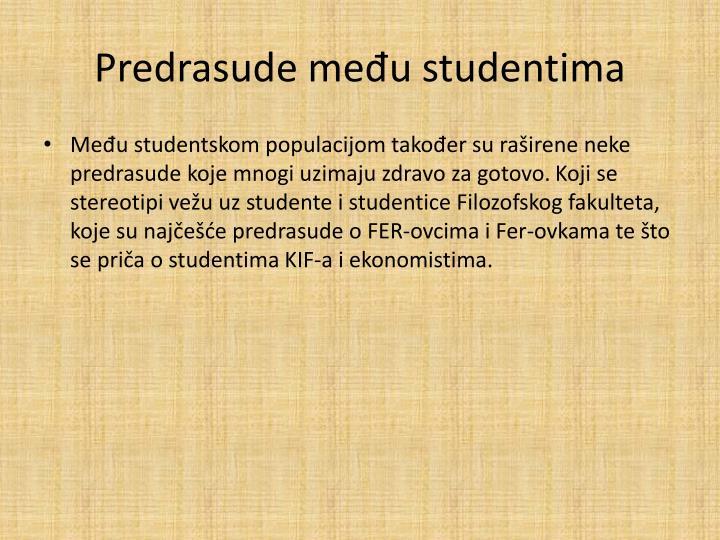 Predrasude među studentima