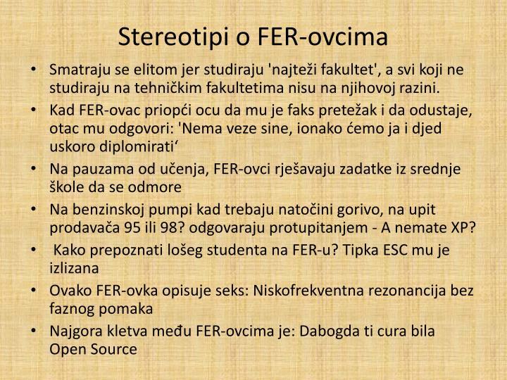 Stereotipi o FER-ovcima