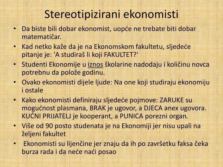 Stereotipizirani ekonomisti