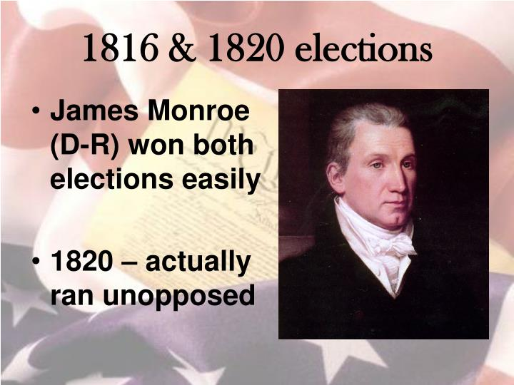 1816 & 1820 elections