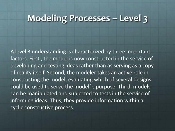 Modeling Processes – Level 3