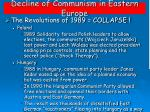 decline of communism in eastern europe