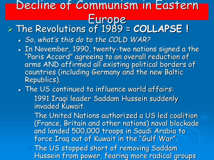 Decline of Communism in Eastern Europe
