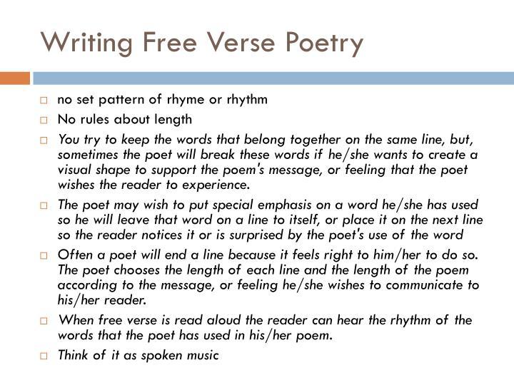 Writing Free Verse Poetry