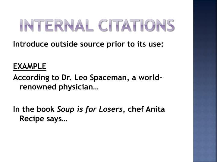 works cited websites