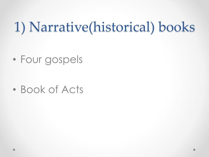 1 narrative historical books