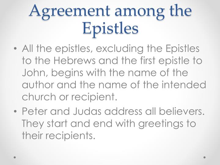 Agreement among the Epistles