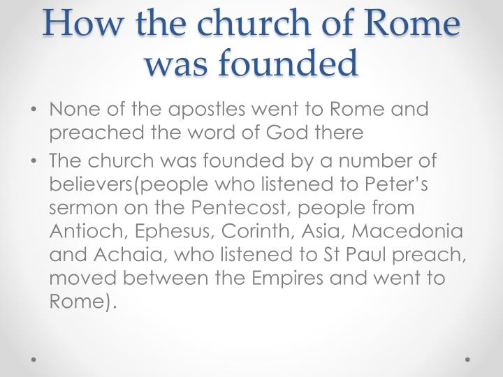 How the church of Rome was founded