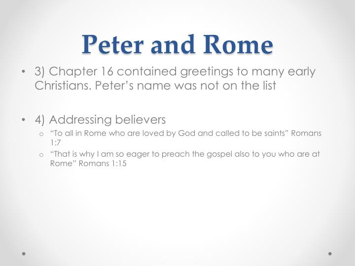 Peter and Rome