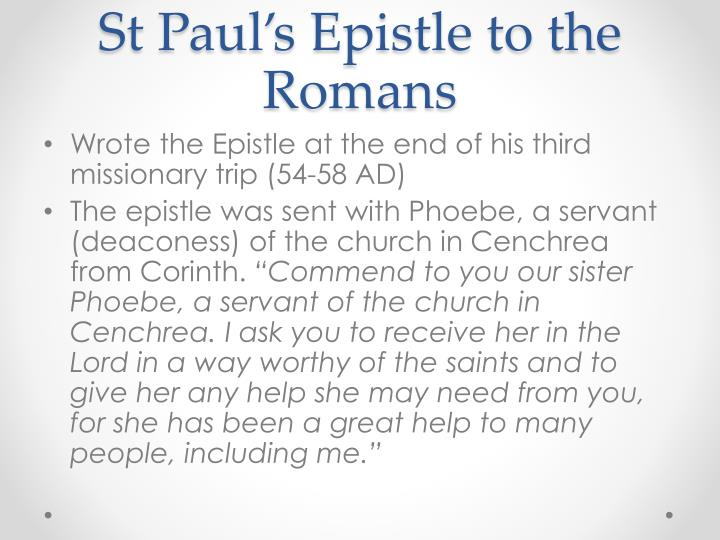 St Paul's Epistle to the Romans