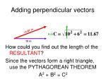 adding perpendicular vectors