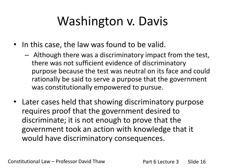 Washington v. Davis