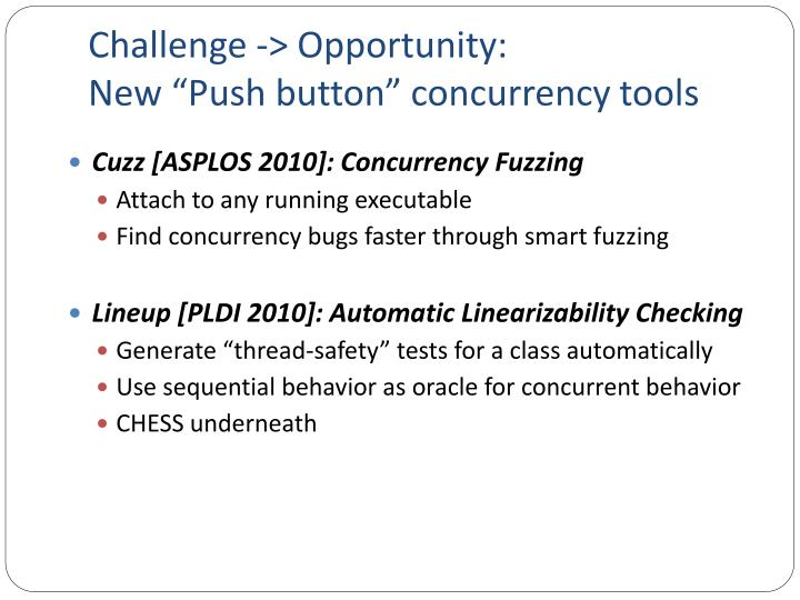Challenge -> Opportunity:
