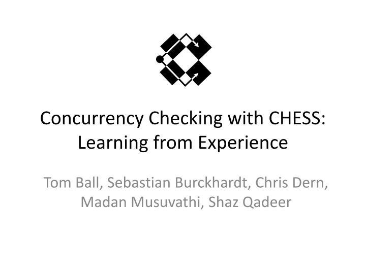 Concurrency Checking with CHESS: