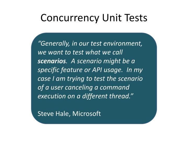 Concurrency Unit Tests