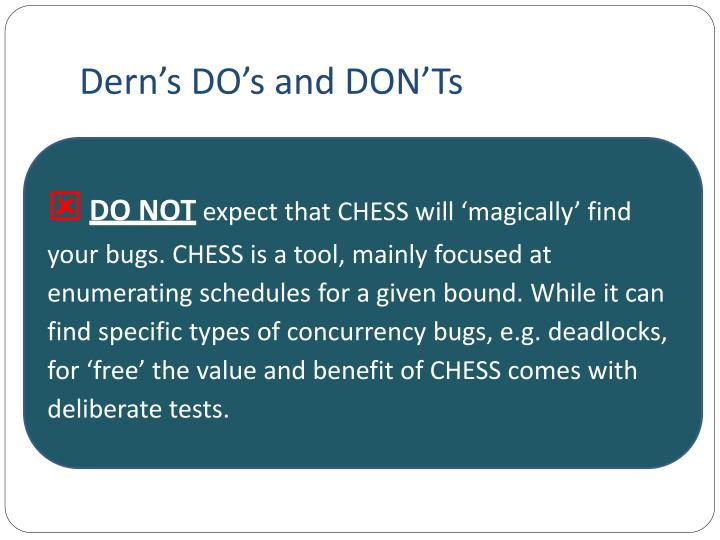 Dern's DO's and DON'Ts