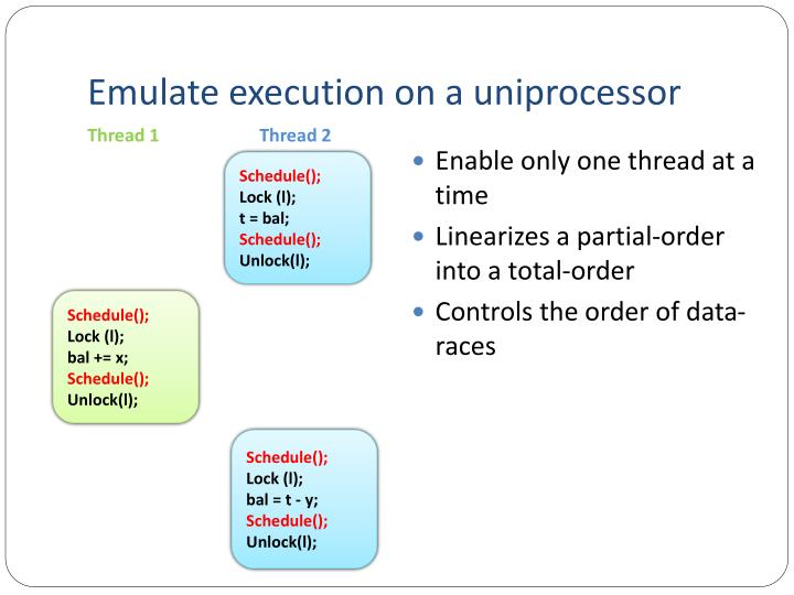 Emulate execution on a