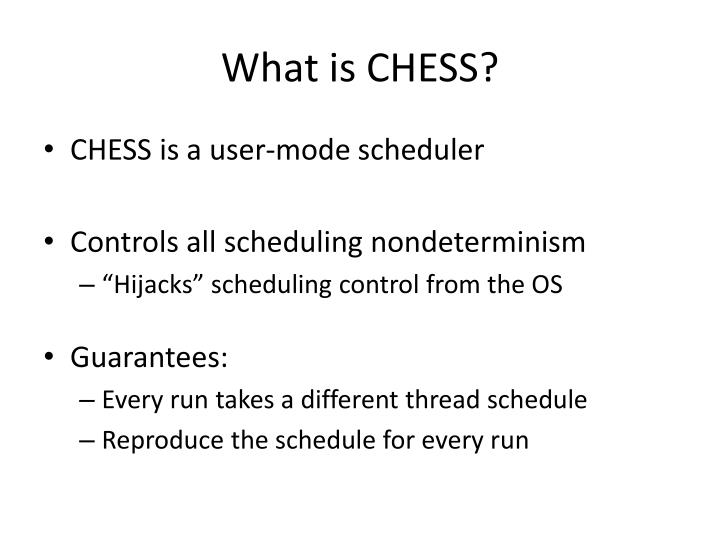 What is chess