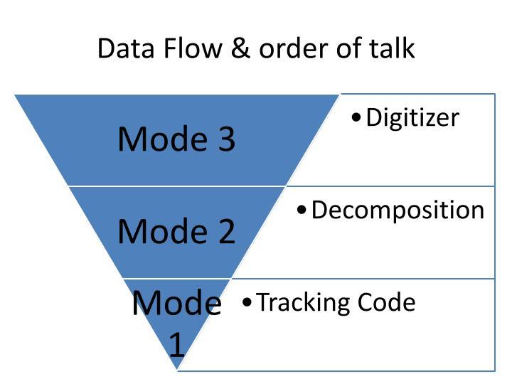 Data Flow & order of talk