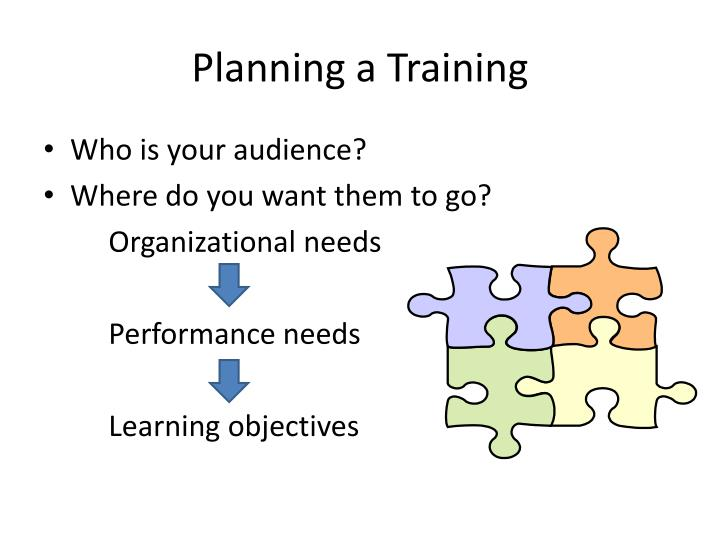 Planning a Training