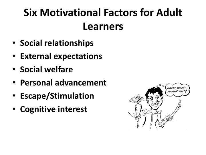 Six Motivational Factors for Adult Learners