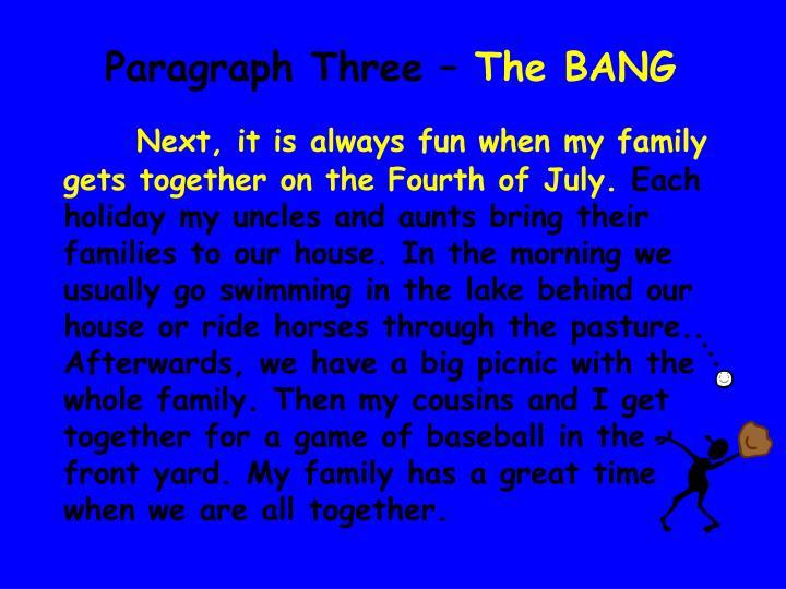 Paragraph Three –