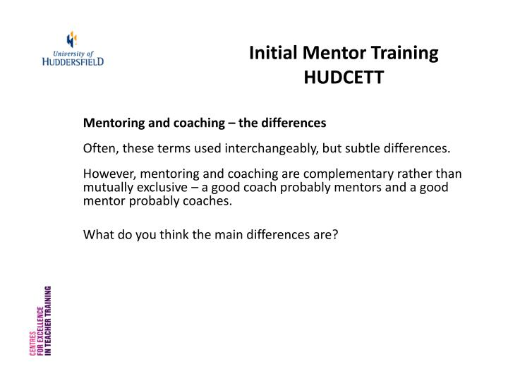 Initial Mentor Training