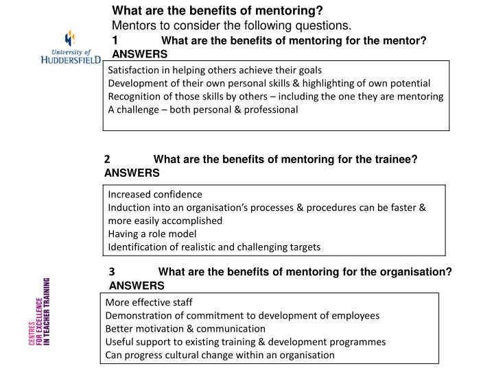 What are the benefits of mentoring?